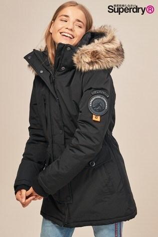 4a86c9af8940 Black Superdry Ashley Everest Coat · Black Superdry Ashley Everest Coat ...
