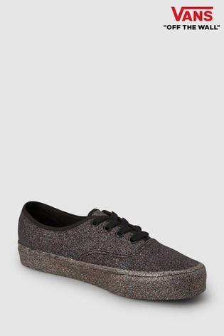 ece2be6712 Buy Vans Black Glitter Authentic from Next Ireland