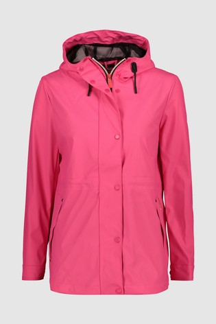 enjoy best price new photos complete in specifications Hunter Womens Pink Lightweight Rubberised Rain Jacket
