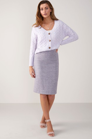 93da9ebd86 Buy Pure Collection Lilac Texture Wool Pencil Skirt from the Next UK ...
