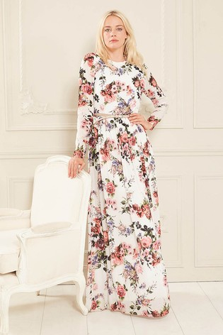 627795ec40e Buy Gina Bacconi Dionne Chiffon Belted Maxi Dress from Next Slovakia