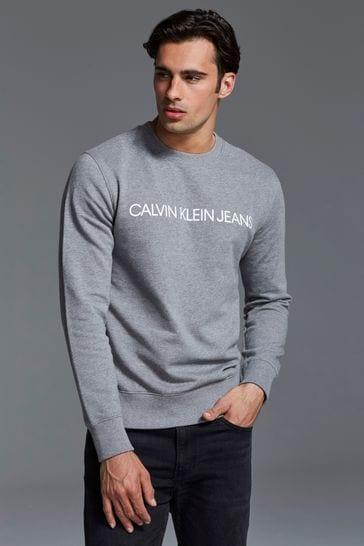 edfafd19be38 Buy Calvin Klein Jeans Institutional Logo Sweatshirt from the Next ...