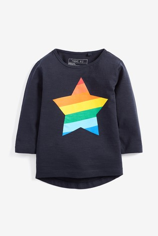 9ec13369b52b from Next Slovakia Buy Long Sleeve Rainbow Star T-Shirt (3 mes. – 6 ...