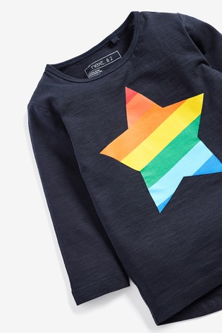 838163a386f3 from Next Slovakia Buy Long Sleeve Rainbow Star T-Shirt (3 mes. – 6 rok.)