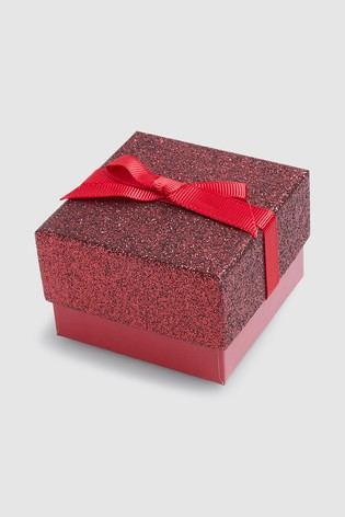 Red Small Red Glitter Gift Box