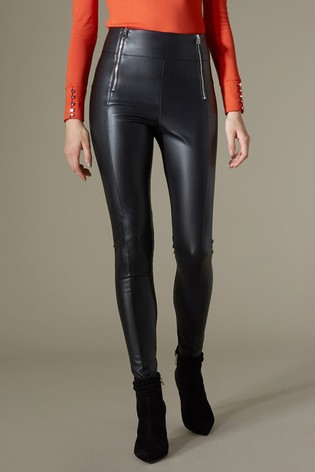 10a84a2f98e3d Buy Karen Millen Black Faux Leather Legging from the Next UK online shop