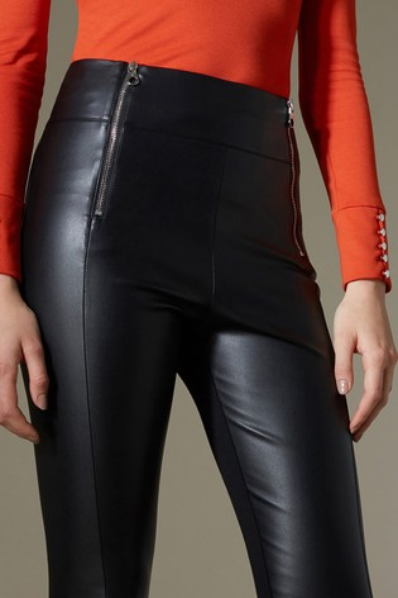 af5a5d619a2d50 Buy Karen Millen Black Faux Leather Legging from the Next UK online shop