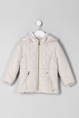 1e9a0afcde Buy River Island Cream Short Padded Quilted Jacket from Next Slovakia