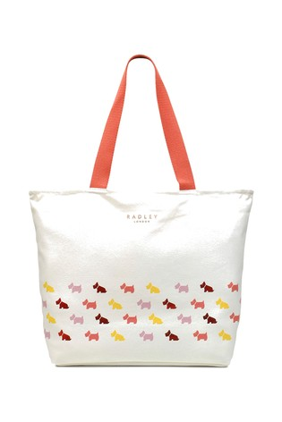 c140eda16 Buy Radley London Cream Multi Dog Large Zip Top Canvas Tote from the ...