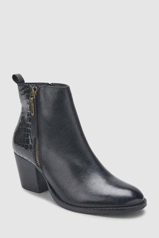 69da2640ac471 Buy Dune London Zip Material Heel Ankle Boot from the Next UK online ...