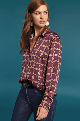 e07d6f4c08fe27 Buy Chain Print Shirt from the Next UK online shop