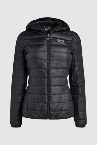 dcc82770a Emporio Armani EA7 Black Packaway Down Padded Hooded Jacket