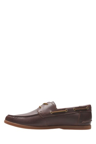 Lace ups Clarks Morven Sail Leather Shoes in Tan