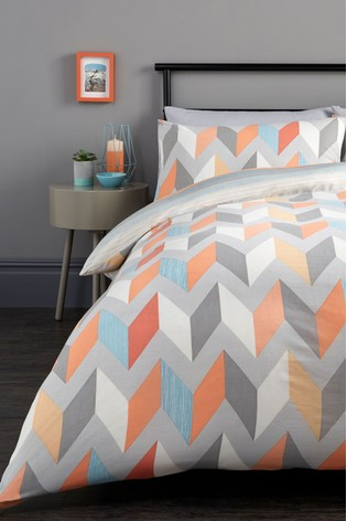 Fusion Grafix Geo Duvet Cover And, Contemporary Bedding Sets Uk