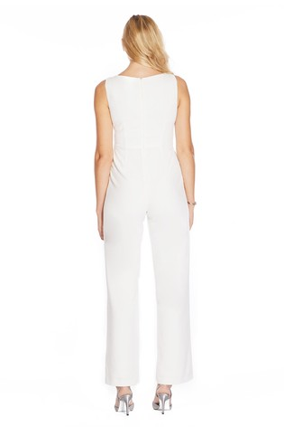 Buy Adrianna Papell Ivory Knit Crepe Jumpsuit From Next Ireland