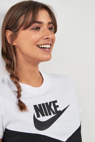 d54773165 Buy Nike Heritage Colourblock Cropped Tee from the Next UK online shop