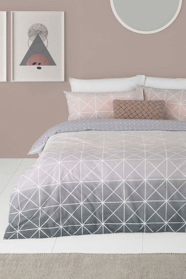 Buy Spectrum Geo Duvet Cover And Pillowcase Set By Furn From The Next Uk Online Shop