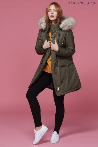 443874b0 Buy Tommy Hilfiger Green Sarah Padded Jacket from Next Cyprus