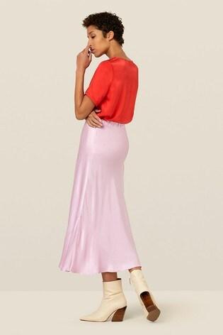 cd3bb18c58 Buy Finery London Purple Alberte Satin Midi Skirt from the Next UK ...