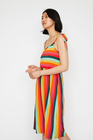 53be7a0a6e Buy Warehouse Black Rainbow Stripe Cami Dress from the Next UK ...