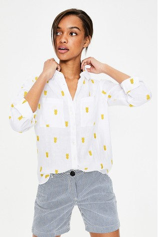 3e3d6237396 Buy Boden Yellow Linen Shirt from the Next UK online shop