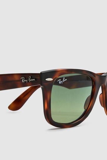Red Ray Ban® Wayfarer Sunglasses Havana PiTOXZuwk