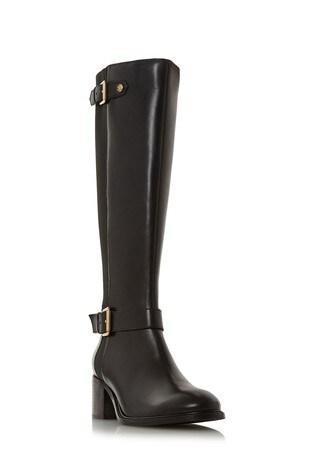 de19ea2ea22 Dune London Black Block Heel Knee High Boot