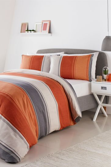 Fusion Betley Duvet Cover And, Gray And Orange Bedding