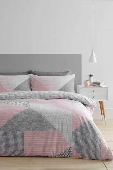 Buy Catherine Lansfield Larson Geo Duvet Cover And Pillowcase Set