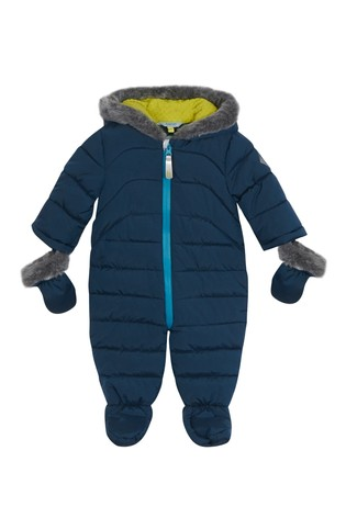 a4243aaff Buy baker by Ted Baker Faux Fur Trim Footless Snowsuit from Next Denmark