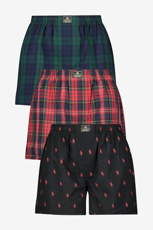 Pack Polo Boxers Woven Check Lauren Pony And Three Ralph yN80wvOnm