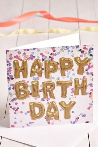 Large Letter Balloon Birthday Card