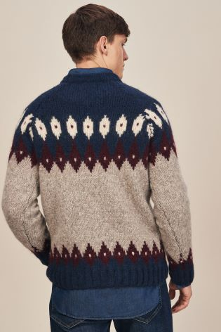 81181b33c Buy GANT Grey Cozy Fairisle Pattern Crew Knit Jumper from Next Ireland