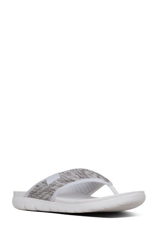 338f31a16 Buy FitFlop™ White Artknit Olivia Toe Post Sandal from Next Oman