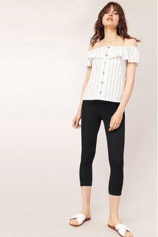 4da54e818326 Buy Oasis Black Grace Capri Trousers from the Next UK online shop