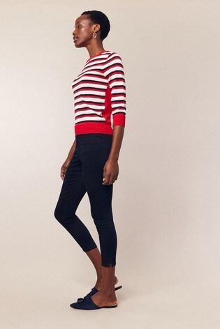 385fa6e4f133 Buy Oasis Blue Grace Capri Trousers from the Next UK online shop