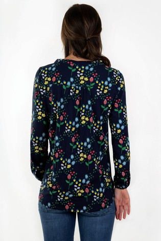 b013d1a4b84 Buy Frugi Blue Floral Pretty Printed Blouse from the Next UK online shop