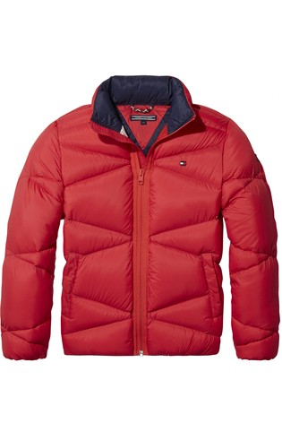Buy Tommy Hilfiger Red Packable Light Down Jacket from Next Germany 025f83ce4c