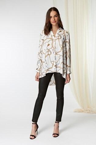 01e797ba1d71dd Buy Wallis White Ivory Chain Print Blouse from the Next UK online shop