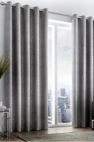 Buy Curtina Leopard Jacquard Lined Eyelet Curtains From Next Usa