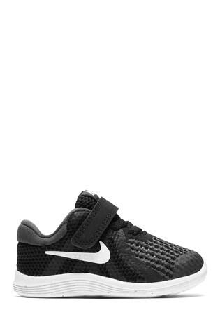 size 40 3b731 f8d3c Black Nike Run Revolution 4 Infant ...