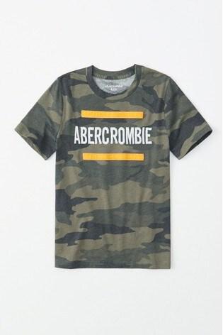 411573452d3 Buy Abercrombie & Fitch Camo Tech Logo T-Shirt from Next Ireland