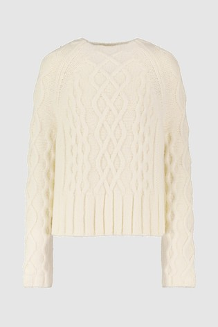 dbc2a3eec55b1 Buy Whistles Ivory Cable Knit Jumper from Next Ireland