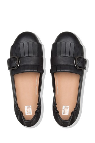 fd8c64961dd4 Buy FitFlop™ Black Ally Fringe Ballerina Shoe from the Next UK ...