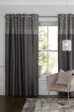 Buy Geo Panel Eyelet Curtains From The Next Uk Online Shop
