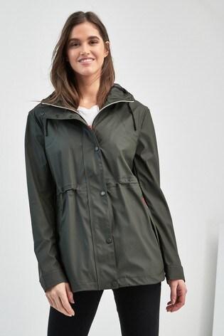 6d7207a6a643d Buy Hunter Women's Original Olive Lightweight Rubberised Rain Jacket ...