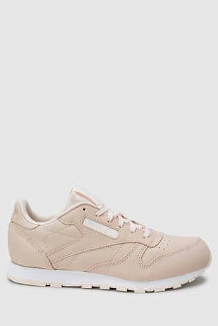 quality design cce04 5b4d1 ... Pale Pink Reebok Classic Leather Shimmer Youth ...