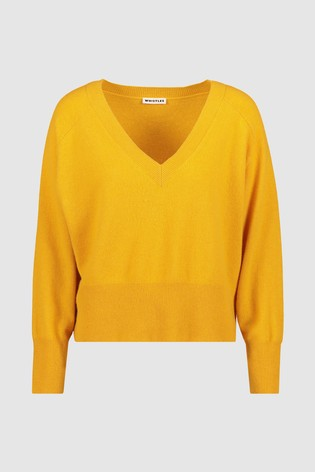 Neck France Next Oversized V From Cashmere Whistles Buy Knit NO0mnv8w
