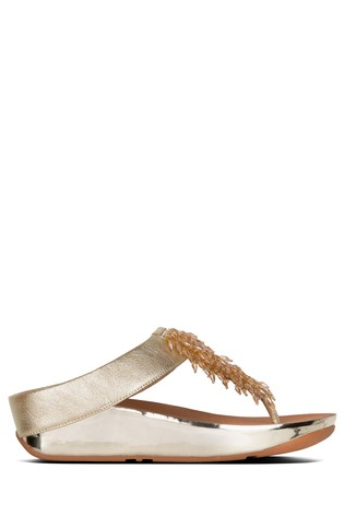 0111e0cbc Buy FitFlop Rumba™ Toepost Sandals In Metallic Gold from Next Kuwait