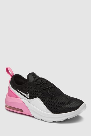 new product d4ae1 adbed Nike Black/Pink Air Max Motion Junior Trainers